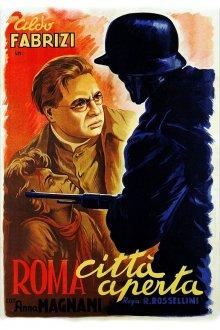 постер к фильму Рим, открытый город